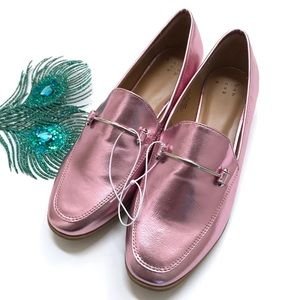 A New Day | Perry Metallic Pink Penny Loafer
